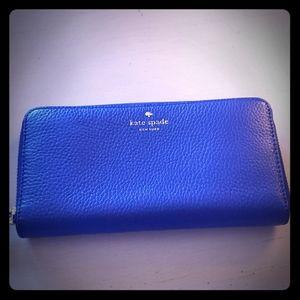 Kate Spade Royal Blue Wallet